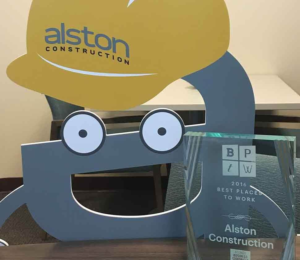 Alston construction recognition achievements and rewards for Department of motor vehicles in sacramento